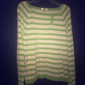 EUC Lime green and white Talbots sweater!